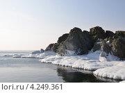 Ледяные скалы. Стоковое фото, фотограф Диана Линевская / Фотобанк Лори