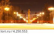 Купить «Город Тамбов. Памятник Державину Г.Р.», фото № 4250553, снято 1 февраля 2013 г. (c) Карелин Д.А. / Фотобанк Лори