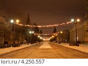 Купить «Город Тамбов. Улица Державинская», фото № 4250557, снято 1 февраля 2013 г. (c) Карелин Д.А. / Фотобанк Лори