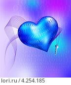 Купить «Ключ от цифрового сердца», иллюстрация № 4254185 (c) Olivas / Фотобанк Лори