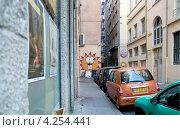 Купить «Граффити в Лионе, Франция», фото № 4254441, снято 10 июля 2012 г. (c) Виктория Фрадкина / Фотобанк Лори