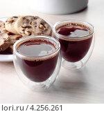 Купить «Два стакана кофе эспрессо», фото № 4256261, снято 21 марта 2019 г. (c) Food And Drink Photos / Фотобанк Лори