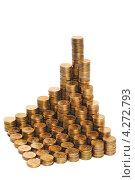 Купить «Монеты, сложенные в столбики. Концепция роста доходов», эксклюзивное фото № 4272793, снято 9 февраля 2013 г. (c) Юрий Морозов / Фотобанк Лори