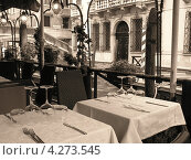 Ресторан на набережной канала, Венеция, Италия. Стоковое фото, фотограф Николаева Наталья / Фотобанк Лори