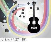 Купить «Фон с акустической гитарой», иллюстрация № 4274181 (c) Анна Павлова / Фотобанк Лори