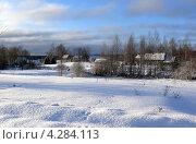 Зимний сельский пейзаж (2013 год). Стоковое фото, фотограф Константин Сапронов / Фотобанк Лори
