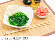 Купить «Салат из водорослей Чука», фото № 4284393, снято 13 февраля 2013 г. (c) Макарова Елена / Фотобанк Лори