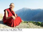 Купить «Тибетский монах Лама», фото № 4292753, снято 1 июля 2012 г. (c) Дмитрий Калиновский / Фотобанк Лори