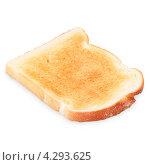 Купить «Обычный тост на белом фоне», фото № 4293625, снято 24 января 2020 г. (c) Food And Drink Photos / Фотобанк Лори