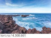Вид на Атлантический океан, остров Сан-Мигель, Азорские острова (2012 год). Стоковое фото, фотограф Роман Сулла / Фотобанк Лори