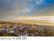 Вид с высоты на город Ponta Delgada, остров Сан-Мигель, Азорские острова (2012 год). Стоковое фото, фотограф Роман Сулла / Фотобанк Лори