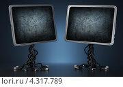 Два экрана для сообщений. Стоковая иллюстрация, иллюстратор Андрей Воскресенский / Фотобанк Лори