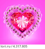 Рубиновое сердце. Стоковая иллюстрация, иллюстратор Андрей Воскресенский / Фотобанк Лори