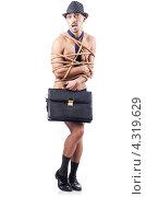 Купить «Раздетый бизнесмен, связанный веревкой», фото № 4319629, снято 2 октября 2012 г. (c) Elnur / Фотобанк Лори