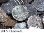 Купить «Монеты достоинством одна копейка крупным планом», фото № 4326725, снято 24 февраля 2013 г. (c) Сергей Лаврентьев / Фотобанк Лори