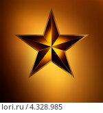 Купить «Красная звезда на золотом фоне», иллюстрация № 4328985 (c) Владимир / Фотобанк Лори