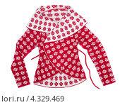 Купить «Женский трикотажный пуловер со снежинками», фото № 4329469, снято 19 февраля 2013 г. (c) Руслан Кудрин / Фотобанк Лори