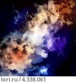 Купить «Красивый космический фон с облаками», иллюстрация № 4338061 (c) Sergey Nivens / Фотобанк Лори
