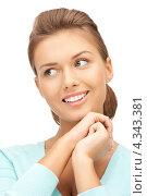 Купить «Очаровательная девушка с красиво уложенными волосами крупным планом», фото № 4343381, снято 28 августа 2011 г. (c) Syda Productions / Фотобанк Лори
