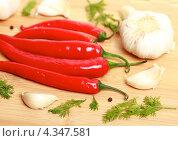 Купить «Перец чили», эксклюзивное фото № 4347581, снято 1 марта 2013 г. (c) Яна Королёва / Фотобанк Лори