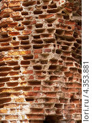 Купить «Старая кирпичная кладка. Текстура», фото № 4353881, снято 4 июня 2020 г. (c) Окапи Вячеслав / Фотобанк Лори