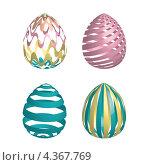 Пасхальные яйца. Стоковая иллюстрация, иллюстратор Александра Шкиндерова / Фотобанк Лори