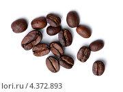 Кофейные зерна на белом фоне. Стоковое фото, фотограф Александра Ткачук / Фотобанк Лори