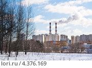 Купить «Районная тепловая станция. Северное Тушино, Москва», фото № 4376169, снято 8 марта 2013 г. (c) Николай Коржов / Фотобанк Лори