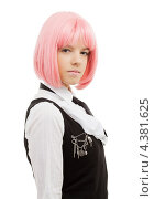 Купить «Девушка-подросток с розовыми волосами в школьной форме», фото № 4381625, снято 12 мая 2007 г. (c) Syda Productions / Фотобанк Лори