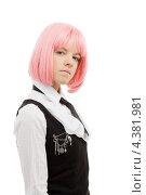 Купить «Девушка-подросток с розовыми волосами в школьной форме», фото № 4381981, снято 12 мая 2007 г. (c) Syda Productions / Фотобанк Лори