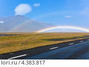 Купить «Исландский пейзаж с двойной радугой», фото № 4383817, снято 10 августа 2012 г. (c) Анастасия Золотницкая / Фотобанк Лори