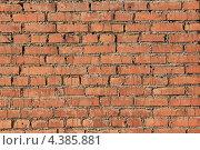 Купить «Кирпичная стена», фото № 4385881, снято 19 февраля 2012 г. (c) Владимир Нестеренко / Фотобанк Лори