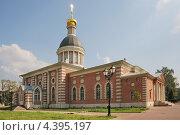 Купить «Храм Рождества Христова Рогожской старообрядческой общины. Москва», эксклюзивное фото № 4395197, снято 12 августа 2012 г. (c) stargal / Фотобанк Лори