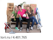 Купить «Друзья затеяли уборку», фото № 4401765, снято 22 марта 2011 г. (c) Phovoir Images / Фотобанк Лори