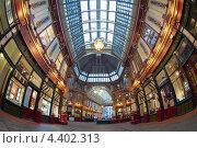 Купить «Интерьер Leadenhall Market в Лондоне», фото № 4402313, снято 7 марта 2013 г. (c) Антон Балаж / Фотобанк Лори