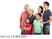 Купить «Семья китайцев смотрит в одну сторону», фото № 4404869, снято 5 апреля 2012 г. (c) Monkey Business Images / Фотобанк Лори