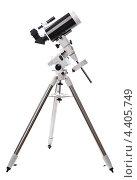 Купить «Телескоп на белом фоне», фото № 4405749, снято 14 марта 2013 г. (c) Литова Наталья / Фотобанк Лори