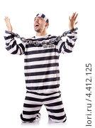 Купить «Осужденный преступник стоит на коленях с мольбами», фото № 4412125, снято 20 ноября 2012 г. (c) Elnur / Фотобанк Лори