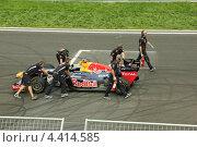 Formula-1 Болид Redbull (2012 год). Редакционное фото, фотограф Александр А. Каргаполов / Фотобанк Лори