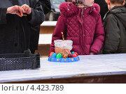 Купить «Освящение куличей и яиц в канун Пасхи», эксклюзивное фото № 4423789, снято 14 апреля 2012 г. (c) Алёшина Оксана / Фотобанк Лори