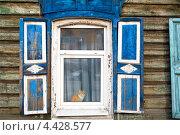 Купить «Крупным планом старое окно в деревянном дом города Иркутск, Россия», фото № 4428577, снято 7 марта 2013 г. (c) Николай Винокуров / Фотобанк Лори