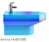 Купить «Голубая стеклянная раковина на белом фоне», иллюстрация № 4431005 (c) Максим Бондарчук / Фотобанк Лори