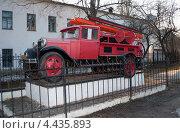 Купить «Пожарная машиина-автонасос на базе автомобиля ГАЗ-АА 1937г.в. Великий Новгород», фото № 4435893, снято 23 апреля 2011 г. (c) Виктор Карасев / Фотобанк Лори
