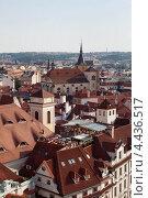 Купить «Крыши Праги, Чехия», фото № 4436517, снято 30 июня 2012 г. (c) Иван Демьянов / Фотобанк Лори