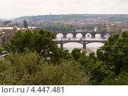Мосты над Влтавой, Прага, Чехия (2010 год). Стоковое фото, фотограф Алексей Иванов / Фотобанк Лори