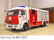 Купить «Современный пожарный автомобиль», фото № 4451921, снято 24 октября 2012 г. (c) Владимир Сергеев / Фотобанк Лори