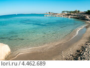 Пустая набережная с песчаным пляжем в Кипре, Средиземное море (2010 год). Стоковое фото, фотограф Кекяляйнен Андрей / Фотобанк Лори