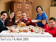 Купить «Семья празднует Рождество», фото № 4464389, снято 20 октября 2012 г. (c) Monkey Business Images / Фотобанк Лори