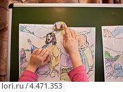 Купить «Детские рисунки на библейскую тему на школьной доске», фото № 4471353, снято 17 февраля 2013 г. (c) Victoria Demidova / Фотобанк Лори