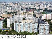 Купить «Вид сверху на спальный район города Москвы, Россия», фото № 4473921, снято 24 июля 2012 г. (c) Николай Винокуров / Фотобанк Лори